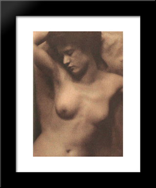 Torso (Collaboration With Stieglitz): Modern Black Framed Art Print by Clarence White