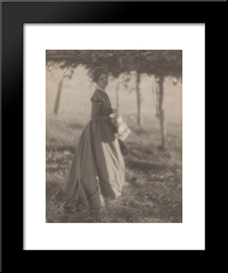 Under The Arbor: Modern Black Framed Art Print by Clarence White
