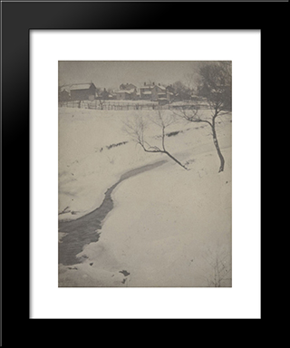 Winter Landscape, Newark, Ohio: Modern Black Framed Art Print by Clarence White