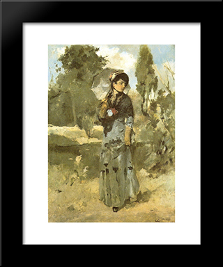 A Volta Do Passeio: Modern Black Framed Art Print by Columbano Bordalo Pinheiro