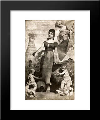 Allegory Of Ceramic Painting: Modern Black Framed Art Print by Columbano Bordalo Pinheiro