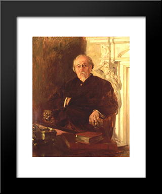 Manuel De Arriaga: Modern Black Framed Art Print by Columbano Bordalo Pinheiro