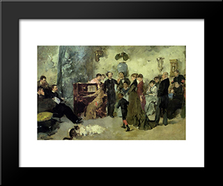 O Sero: Custom Black Wood Framed Art Print by Columbano Bordalo Pinheiro