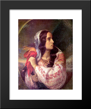 Revolutionary Romania: Modern Black Framed Art Print by Constantin Daniel Rosenthal