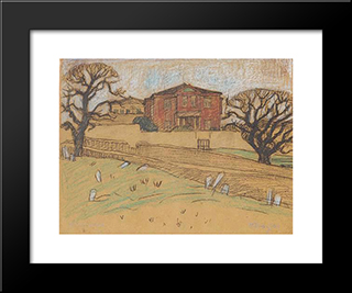House At Lesvos: Modern Black Framed Art Print by Constantine Maleas