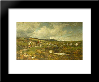 Hay Time On The High Moors: Modern Black Framed Art Print by David Bates