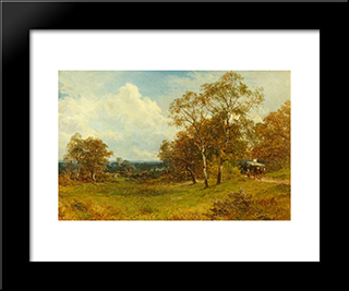 On Ripple Common, Worcestershire: Modern Black Framed Art Print by David Bates