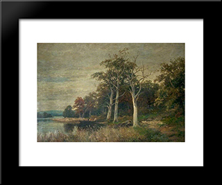 The Shores Of Rydal Water, Cumbria: Modern Black Framed Art Print by David Bates
