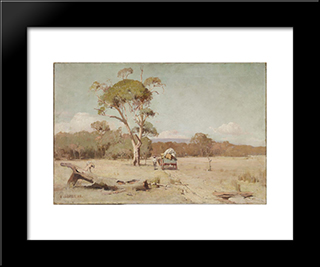 A Hot Day: Modern Black Framed Art Print by David Davies