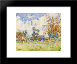 Autumn Afternoon: Modern Black Framed Art Print by David Davies