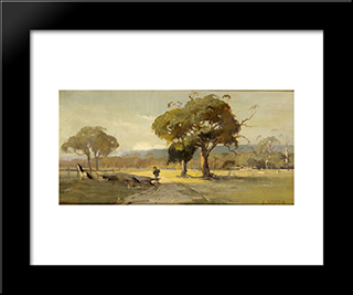 Ercildoune, Near Ballarat: Modern Black Framed Art Print by David Davies