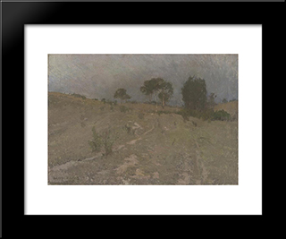 Evening: Modern Black Framed Art Print by David Davies