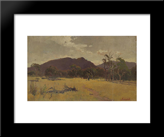 Landscape: Modern Black Framed Art Print by David Davies