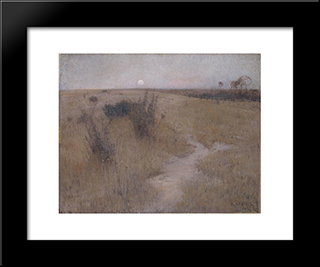 Moonrise: Modern Black Framed Art Print by David Davies