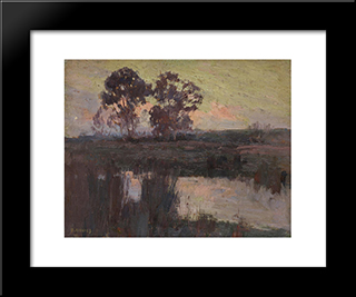 Nocturne, Templestowe: Modern Black Framed Art Print by David Davies