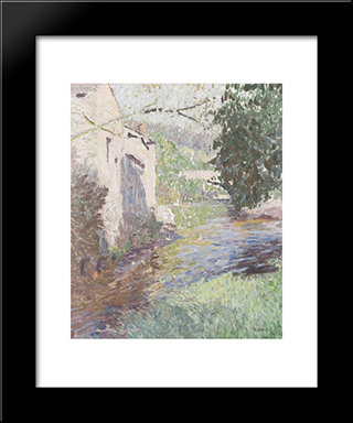 Old Brewery, Sennybridge: Modern Black Framed Art Print by David Davies