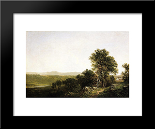 A Lush Summer Landscape: Modern Black Framed Art Print by David Johnson