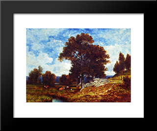 A Scene In The Bronx, N.Y.: Modern Black Framed Art Print by David Johnson