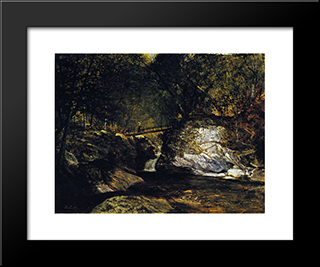 A Study, Bash Bish Falls: Modern Black Framed Art Print by David Johnson