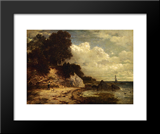 At Larchmont Manor, Long Island Sound, New York: Modern Black Framed Art Print by David Johnson