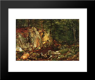 Brook Study At Warwick: Modern Black Framed Art Print by David Johnson