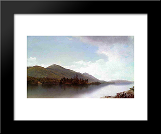 Buck Mountain, Lake George: Modern Black Framed Art Print by David Johnson