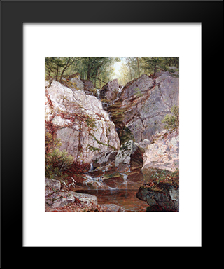 Cascade, Rockland County (Ramapo) Ny: Modern Black Framed Art Print by David Johnson