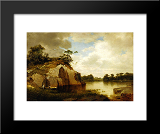Catnip Island, Near Greenwih, Ct: Modern Black Framed Art Print by David Johnson