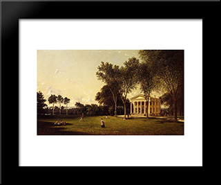 Croquet On The Lawn: Modern Black Framed Art Print by David Johnson