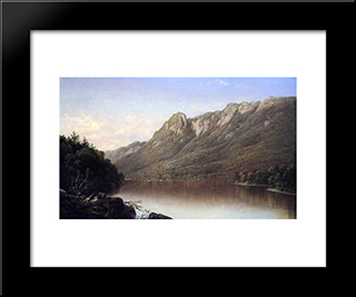 Eagle Cliff, Franconia Notch, New Hampshire: Modern Black Framed Art Print by David Johnson