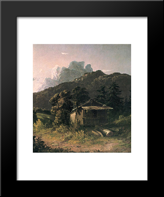 House In The Adirondacks: Modern Black Framed Art Print by David Johnson