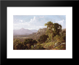 In The White Mountains: Modern Black Framed Art Print by David Johnson