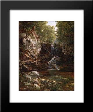 Indian Falls: Modern Black Framed Art Print by David Johnson