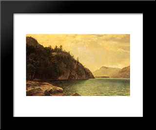 Lake George: Modern Black Framed Art Print by David Johnson