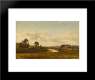 Lancaster New Hampshire Farmland: Modern Black Framed Art Print by David Johnson