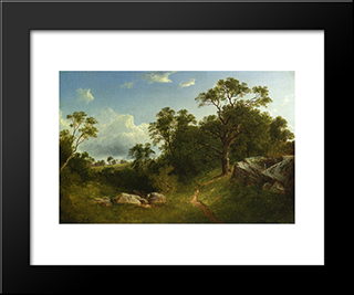Landscape: Modern Black Framed Art Print by David Johnson