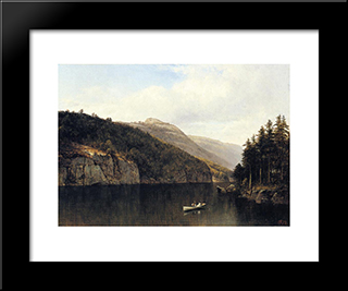 Looking West, From Dollar Island, Lake George: Modern Black Framed Art Print by David Johnson