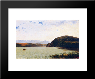 Marlborough: Modern Black Framed Art Print by David Johnson
