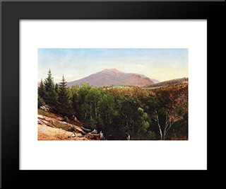 Mount Lafayette, New Hampshire: Modern Black Framed Art Print by David Johnson