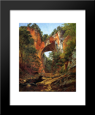 Natural Bridge: Modern Black Framed Art Print by David Johnson