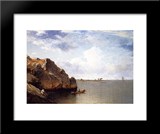 Near Noroton, Connecticut: Modern Black Framed Art Print by David Johnson