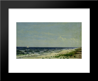 Ocean Beach, Nj: Modern Black Framed Art Print by David Johnson