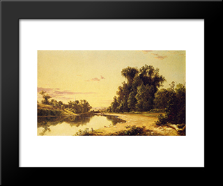On The Escopus At Hurley, New York: Modern Black Framed Art Print by David Johnson