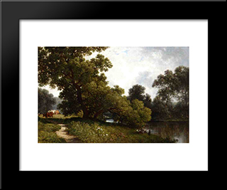 On The Waywayanda, Orange County, New York: Modern Black Framed Art Print by David Johnson