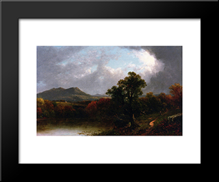Passing Storm Clouds: Modern Black Framed Art Print by David Johnson
