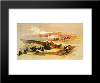 Ashdod: Modern Black Framed Art Print by David Roberts