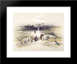 Baalbec, From The Fountain: Modern Black Framed Art Print by David Roberts