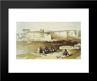 Baalbek, General View: Modern Black Framed Art Print by David Roberts