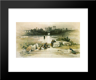 Baalbek. From The Fountain: Modern Black Framed Art Print by David Roberts