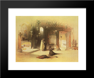 Bethlehem. The Grotto Of The Nativity: Modern Black Framed Art Print by David Roberts